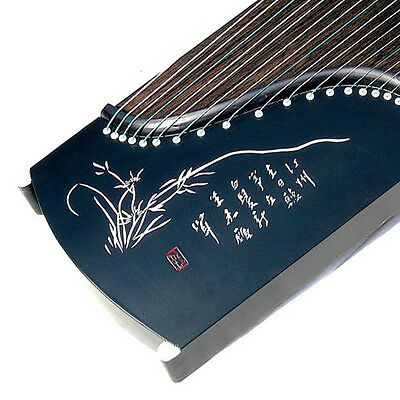 "21-String, 54"" Travel-Size Rosewood Guzheng, Chinese Zither Harp, Koto (Black)"