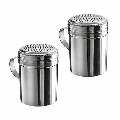 Pack of 2 10 oz Stainless Steel Dredges With Handle