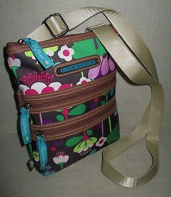 NEW-LILY BLOOM Purse-Shoulder Bag-Crossbody Messenger-ZIP-Pockets-FLOWER-Handbag