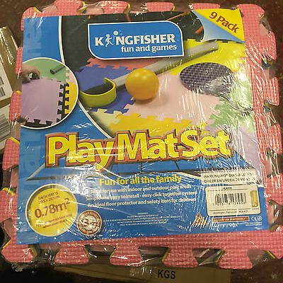 9 PC Play Mat Set Multi Coloured Play Mat Soft Rubber Foam Playmat Kids