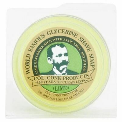 Colonel Conk Lime Glycerine Shaving Soap 64g **FAST POST**AUSSIE SELLER**