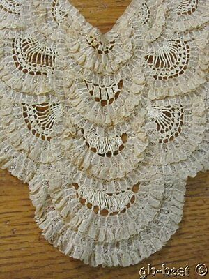 Fancy Vintage Princess LACE Collar Layers Philadelphia Estate