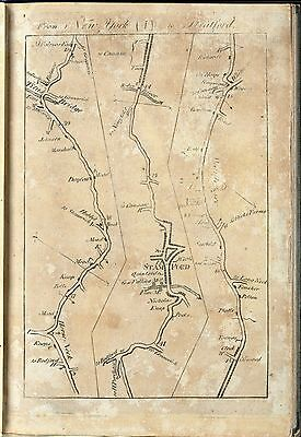 1789 COLLES atlas old antique COLONIAL ROADS UNITES STATES  maps towns INNS  B8