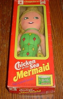 Vintage  CHICKEN OF THE SEA MERMAID Advertising Doll by Mattel 1974 with Box