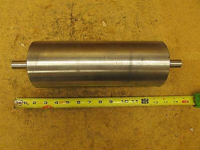 "14 1/2"" Overall 10 1/2""x4"" Roll 3/4"" OD Shaft Stainless Steel Conveyor Roller"
