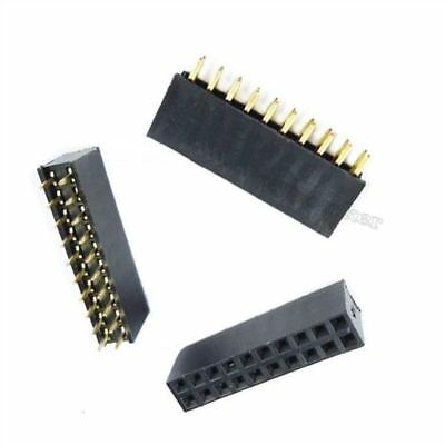 20X 2X10 20Pin 2.54Mm Double Row Female Straight Header Pitch Socket Pin Strip A
