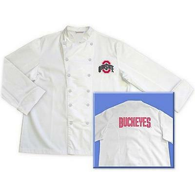 Ohio State Buckeyes Chef Chefs Jacket Coat Tailgate BBQ Kitchen Cooking Gift