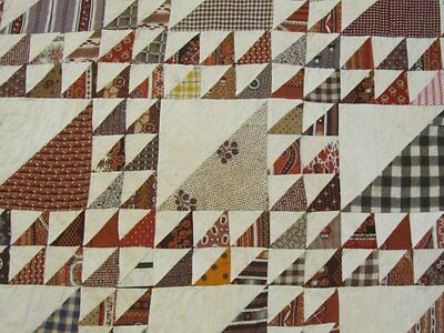 MUSEUM FIND 1830/40s Lady of The Lake Antique Quilt TINY PIECES thousands