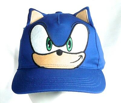 SONIC THE HEDGEHOG Kids/Youth Adjustable Baseball Hat/Cap Blue >NEW<