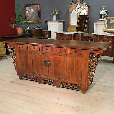 Sideboard in wood Chinese furniture 2 doors antique style credenza buffet 900