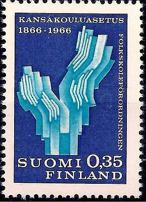 Finland 1966 Primary Law School Justice Order Education Symbolized Depiction MNH