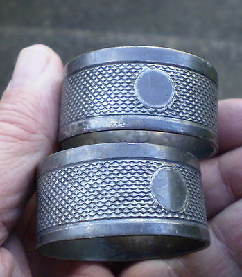 Pair of 1920/30s Art Deco Silver Plated Napkin Rings
