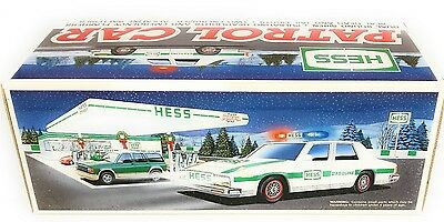 Vintage 1993 HESS TRUCK RESCUE VEHICLE Police Car Toy Vehicle MIB