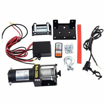 Electric Recovery Winch Truck SUV Wireless Remote Control Classic 2500lbs 12V