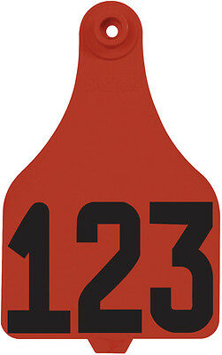 1 - 25* Red DuFlex Numbered Extra Large Cattle ID Ear Tags