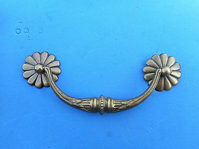 Nice Quality Vintage Solid Brass Furniture Drawer Dresser Pull Ornate NOS