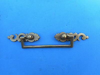 Nice Solid Brass Furniture Pull Vintage Hardware Drawer Dresser Cabinet Knob