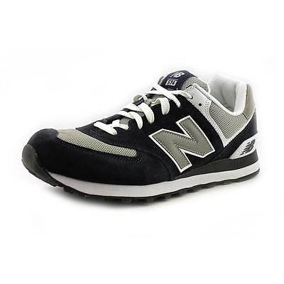 New Balance M574 Men  Round Toe Suede Blue Sneakers