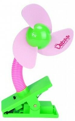 Cozyswan® Baby Pushchair Cot Buggy Pram Mini Safety Clip-on Fan (Pink) *HQ*