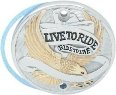 Live to Ride Eagle Spirit Gold Chrome Timer Points Cover Harley Sportster 86-03