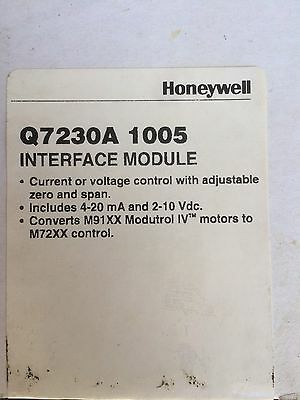 Honeywell Q7230A1005 Interface Module *new In Box*