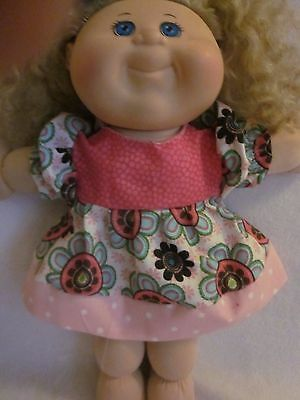 CPK doll clothes only/14 inch/3 prints dress/puffy short sleeves/gathered skirt