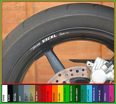 8 x TAKASAGO EXCEL RIM Wheel Rim Decals Stickers - Choice of Colours -
