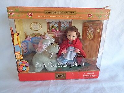 Barbie Kelly Little Red Riding Hood Doll With Wolf 2001 New