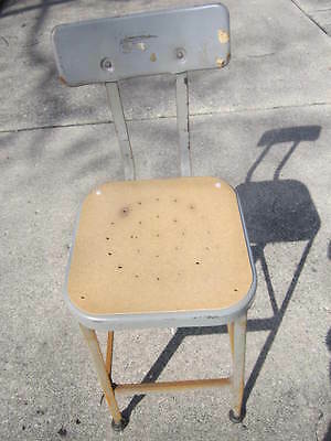Lyon Square Welded Metal Work Shop Stool - #3