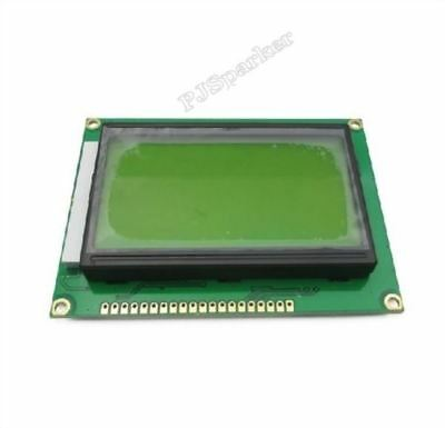 2Pcs St7920 5V 12864 128X64 Dots Graphic Lcd Yellow Green Backlight New Ic R