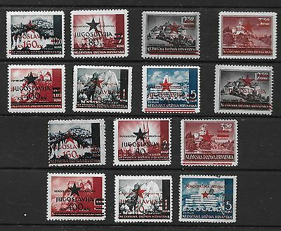 Yugoslavia Croatia 1945 Provisional Issues For City Of Split Stamps Of The Indep