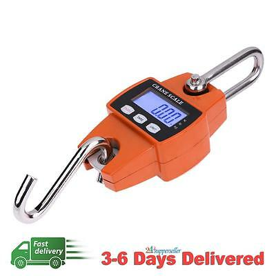Mini Crane Scale LCD Digital Electronic Hook Hanging Weight 300kg 0.1kg AU STOCK
