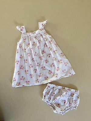 Bébé Baby Girls Dress and Nappy Cover Size 1