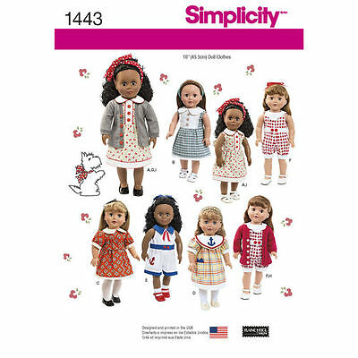18-inch Doll  Variety Clothes Sewing Pattern # 1443 Size: OS