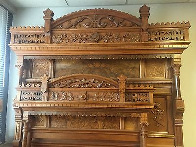 Victorian Walnut & Burled Bedroom Set~late 1800s~3 pcs. Fantastic set.