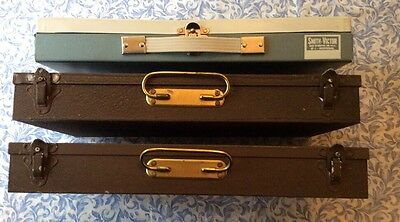 Lot Of 3- Various Coin Metal Storage Boxes Or  35Mm Slide Boxes