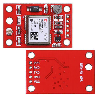 GYNEO6MV2 GPS Module NEO-6M GY-NEO6MV2 Board with Antenna for Arduino New Red