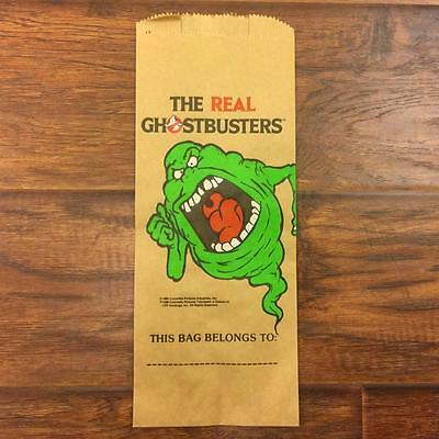 Vintage 80S Nos Carrousel Products The Real Ghostbusters 12 Paper Bags Slimer