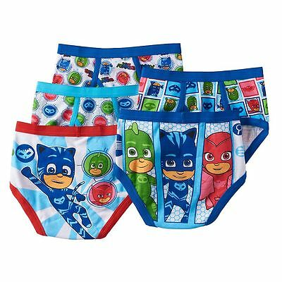 NWT SEALED PJ Masks Boy's Briefs Underwear Catboy Owlette Gekko Sz 4 100% Cotton
