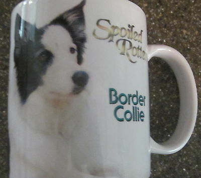 SPOILED ROTTEN BORDER COLLIE Photo Mug Dog Puppy Coffee Cup EUC
