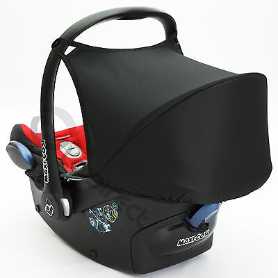 Hood Sun Shade UV 50+ to fit Maxi Cosi CabrioFix Cabrio car seat Canopy (black)
