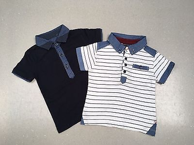 Baby Boys Next Polo T Shirts X 2, 6-9 Months, Excellent Condition
