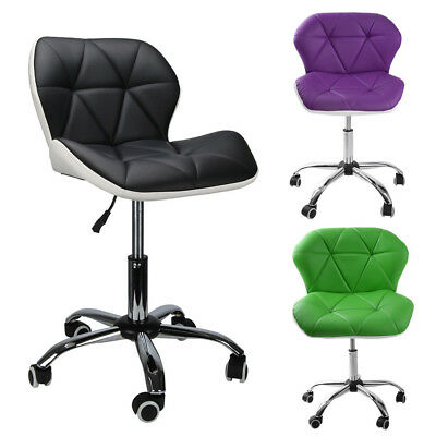 Office Swivel Computer Desk PU Leather Study Chair Height Adjustable Wheel UK