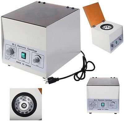 Electric Centrifuge Rotor 4000Rpm Laboratory Medical Practice w Timer New Lab