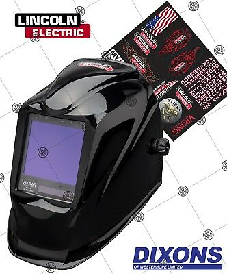 Lincoln Electric 3350 Viking Auto darkening Welding Helmet LARGE VIEW MIG TIG 4C