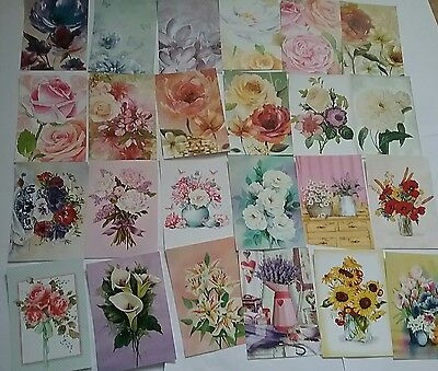 Hunkydory Little Book of Fabulous Florals Toppers x 24xA6 Sheets