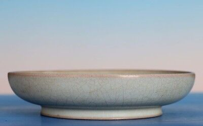 Fine Rare Chinese Excellent Craftwork Ru Kiln Celadon Porcelain Plate Dish FA162
