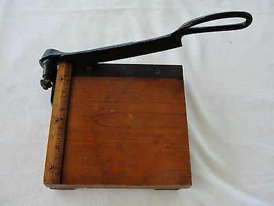 "Vintage Paper Cutter ""Diamond"" -Shearing Style - Patented 1895 - 6 1/2"""