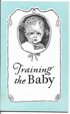 Vintage Pamphlet - Training the Baby -  Little Toidey Company (1955)
