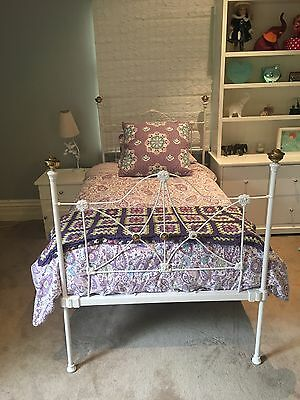 Antique Cast Iron Bed King Single Size